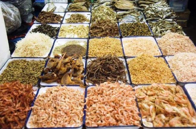 Hải sản khô - Một món quà vùng biển Nghệ An