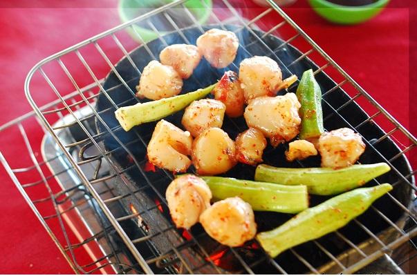 Đặc sản còi biên mai nướng Phú Quốc